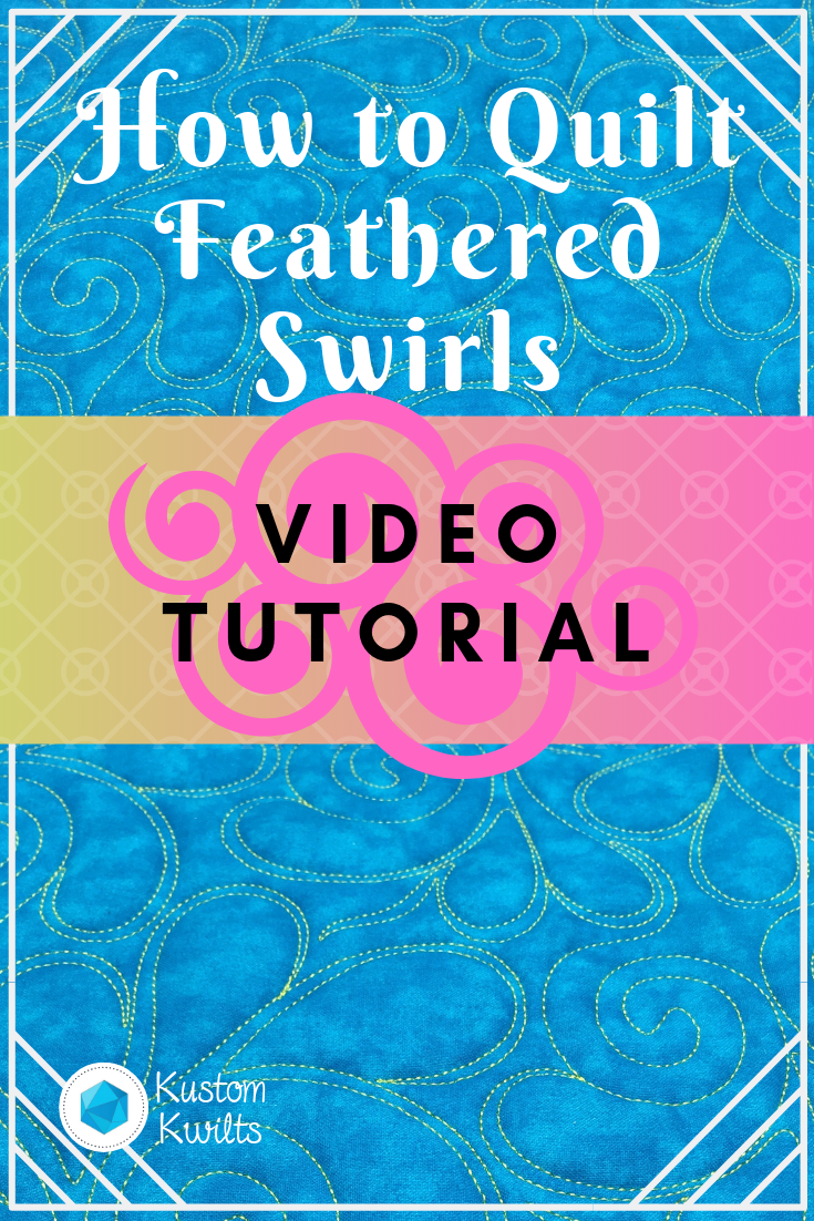 how to quilt feathered swirls