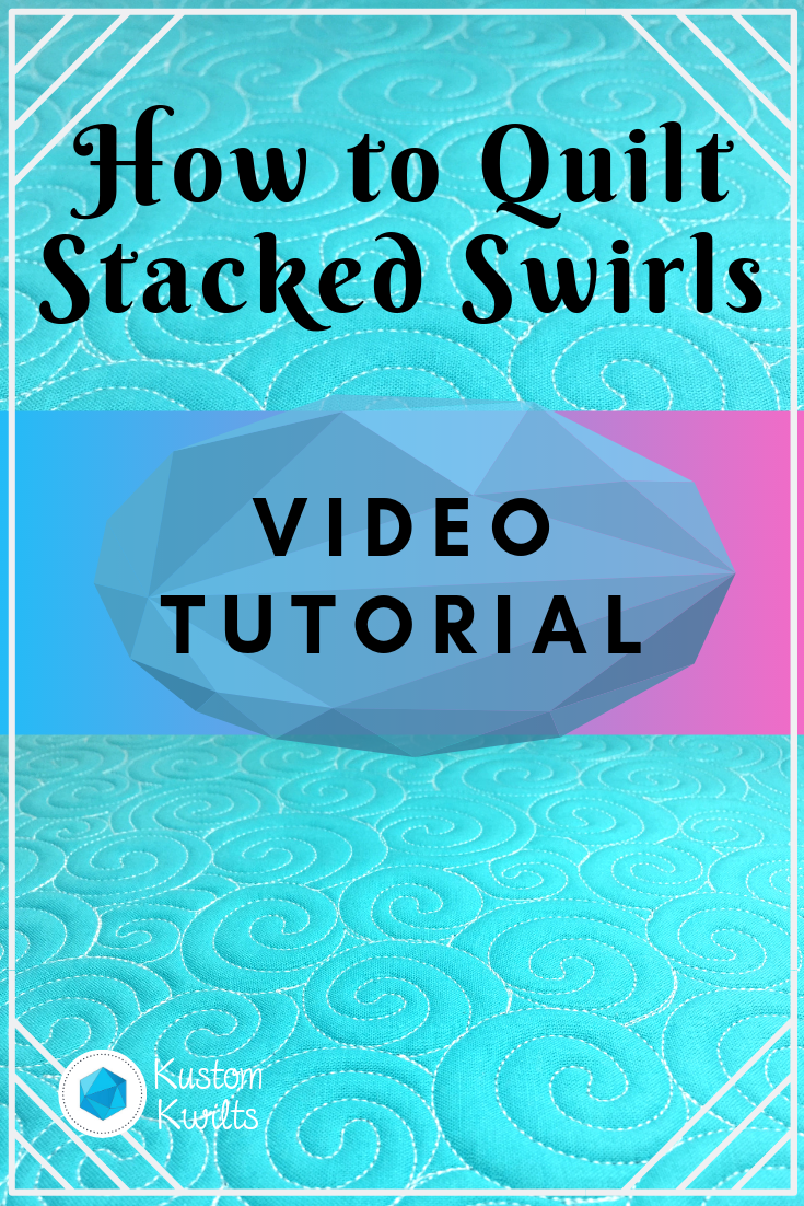 how to quilt stacked swirls