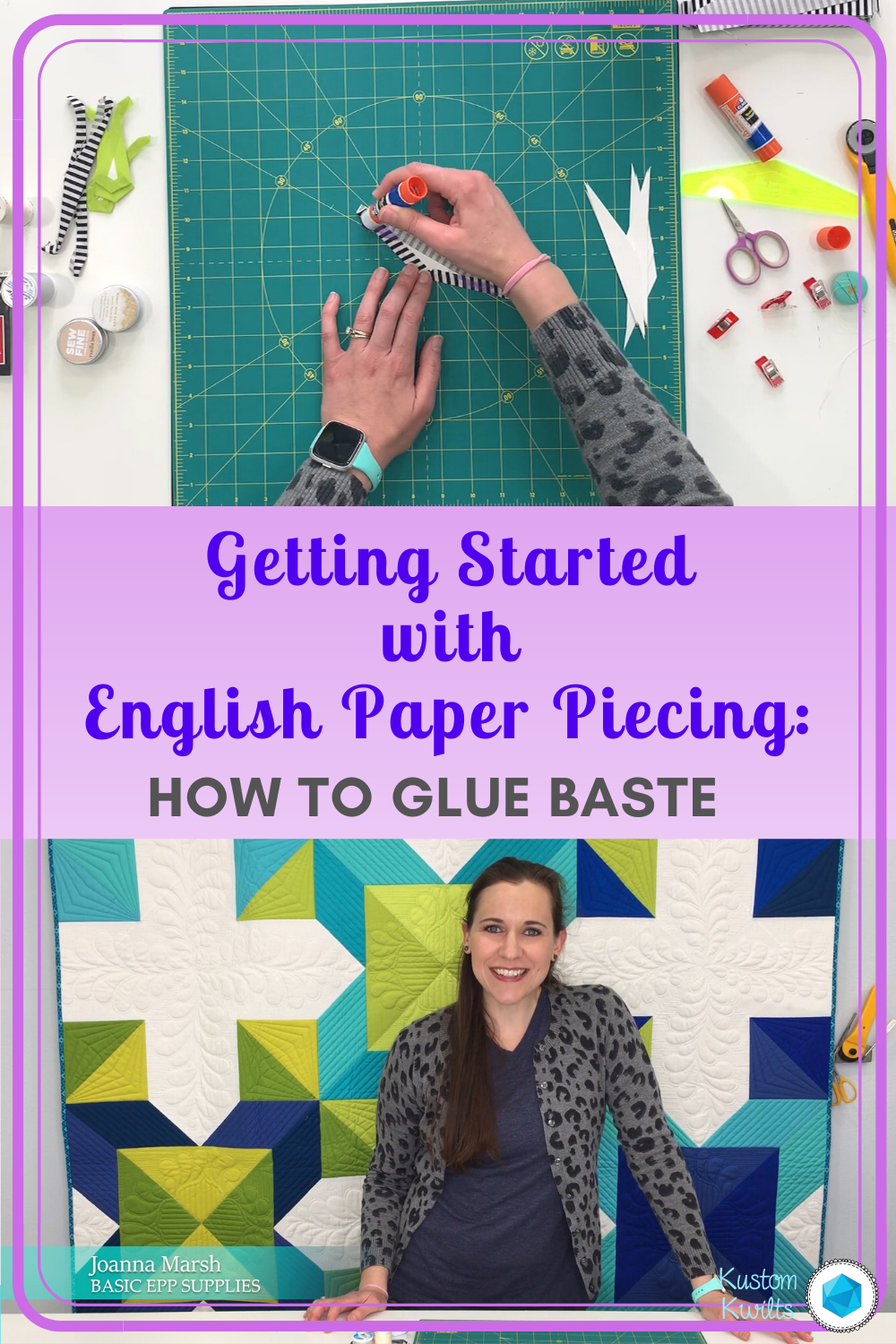 how to glue baste