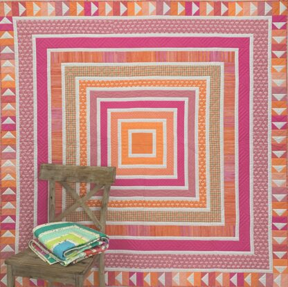 Peach and pink quilt