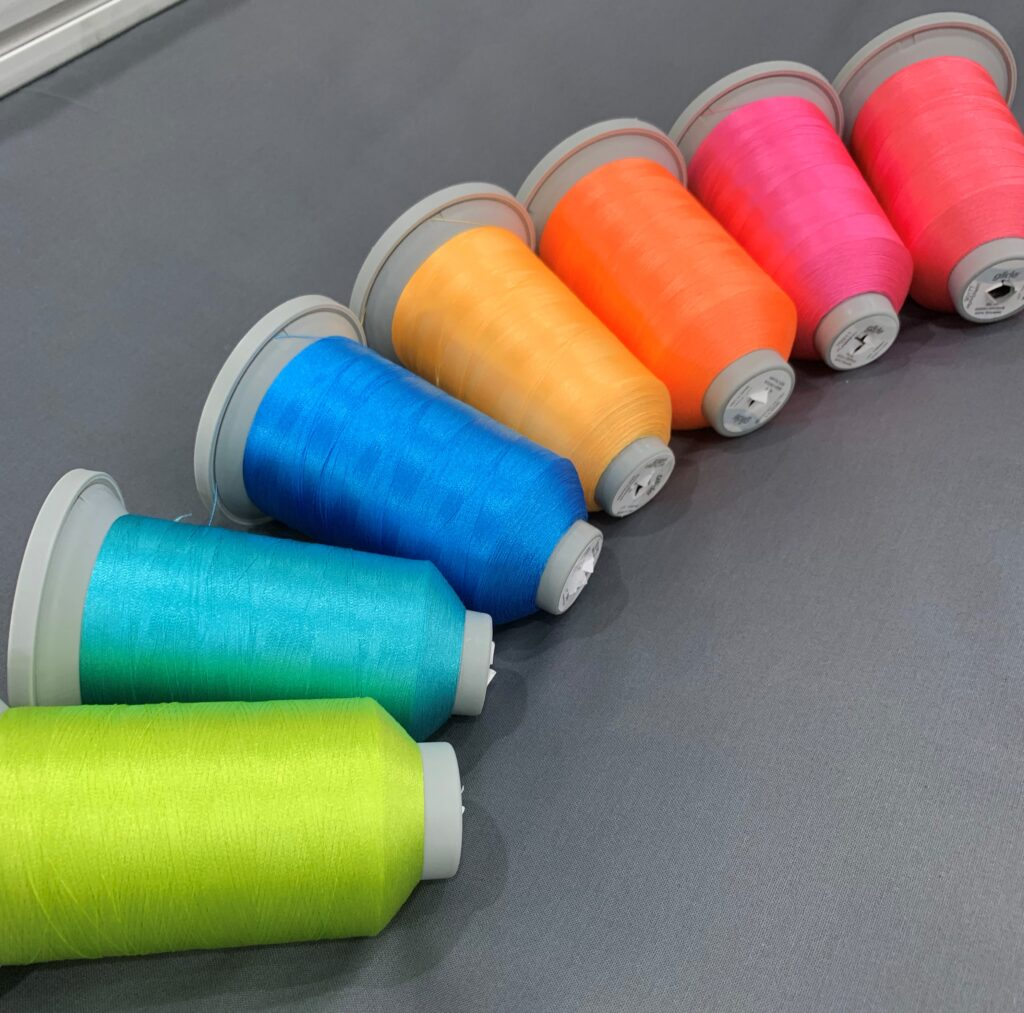 neon colors of glide thread