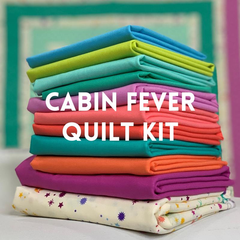 Cabin Fever Quilt Kit Tula Pink Solids Kustom Kwilts
