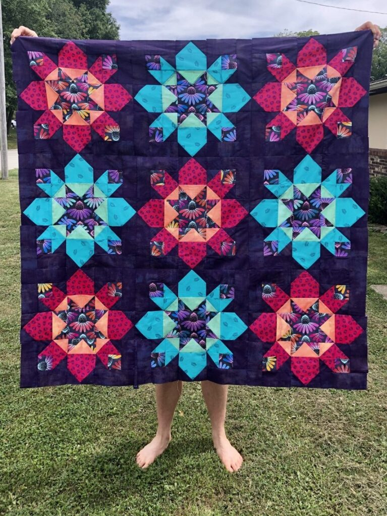 bright Kapow! quilt pattern