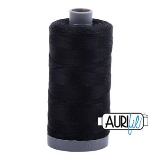 28 wt. black thread