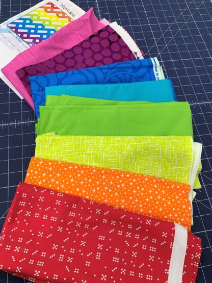 Colorful fabric pull for hurricane quilt