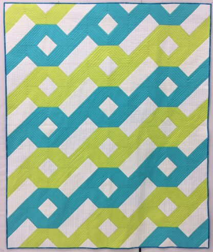 green and blue version of hurrican quilt